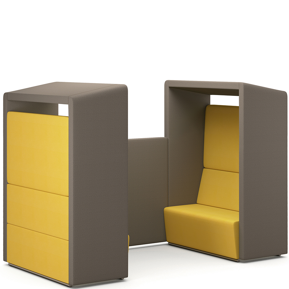 fifteen environments four seat pod hsi office furniture