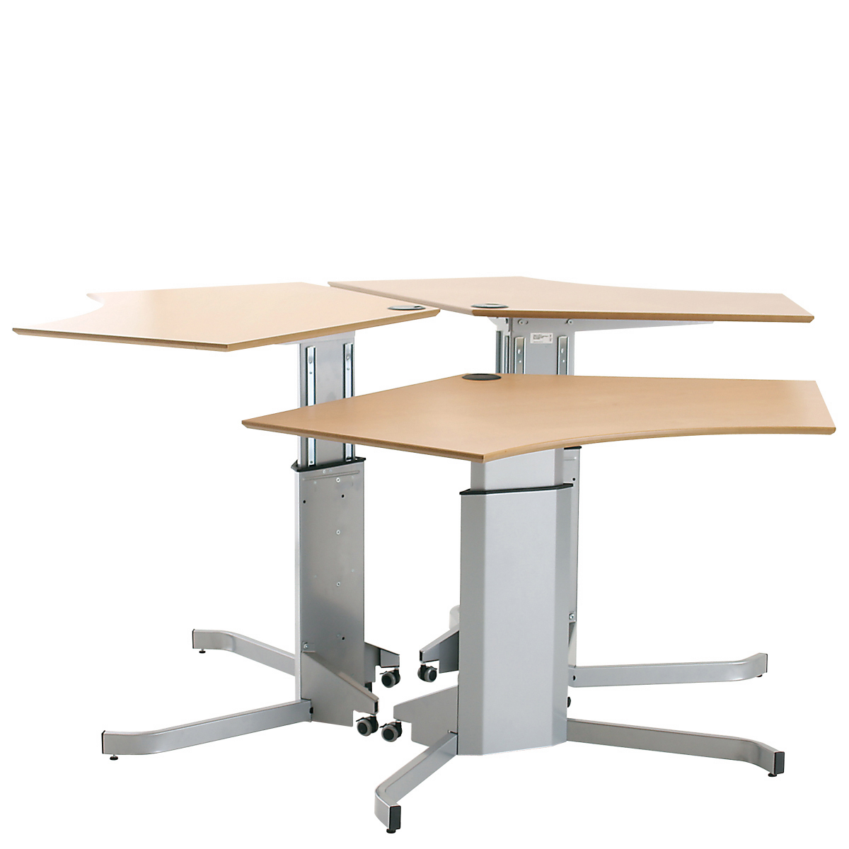 Conset Electric Corner Sit Stand Desk 501 7 Hsi Office