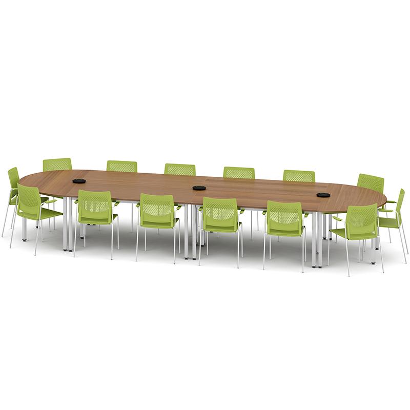 Metro Rectangle Modular Meeting Table Hsi Office