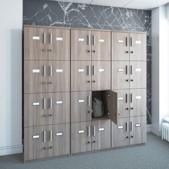 Wooden Personal Storage Lockers Hsi Office Furniture