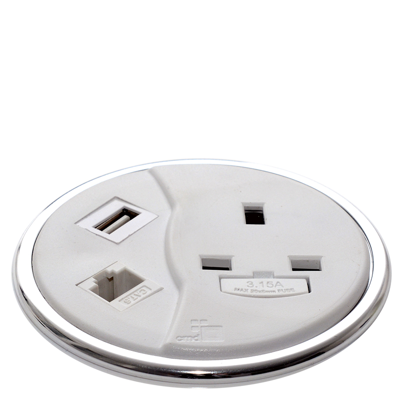 Porthole In Desk Power Data Usb Hsi Office Furniture