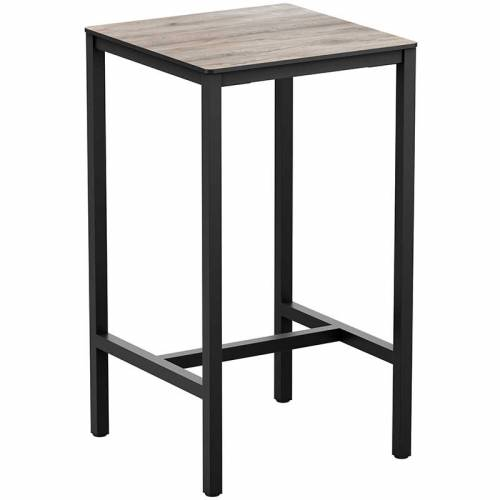 Extrema aged wood square bar table