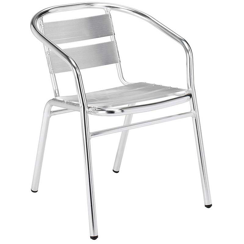 Athena aluminium bistro chair
