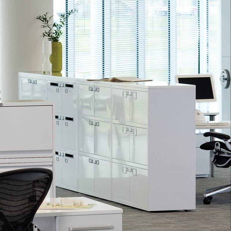 White office storage