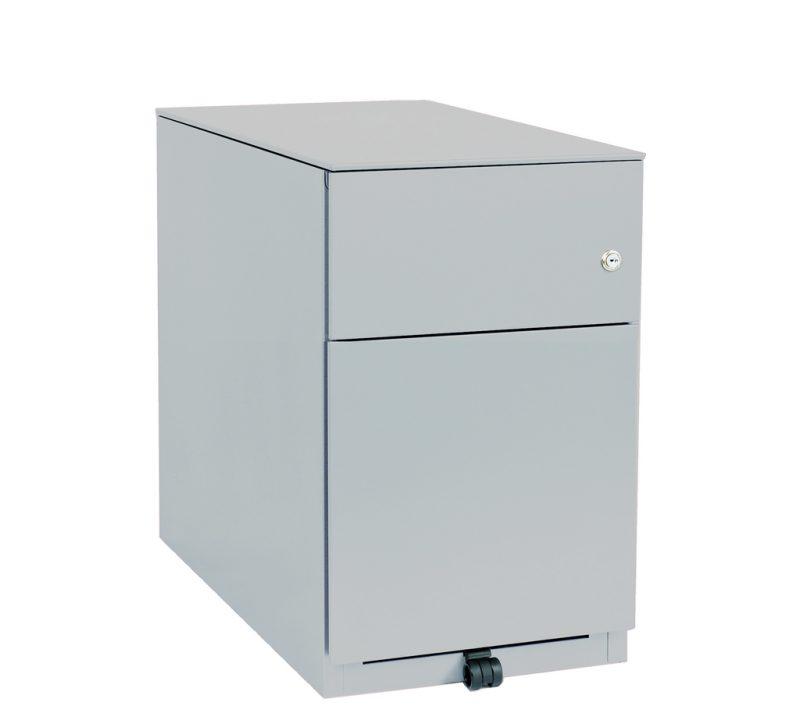White pedestal storage