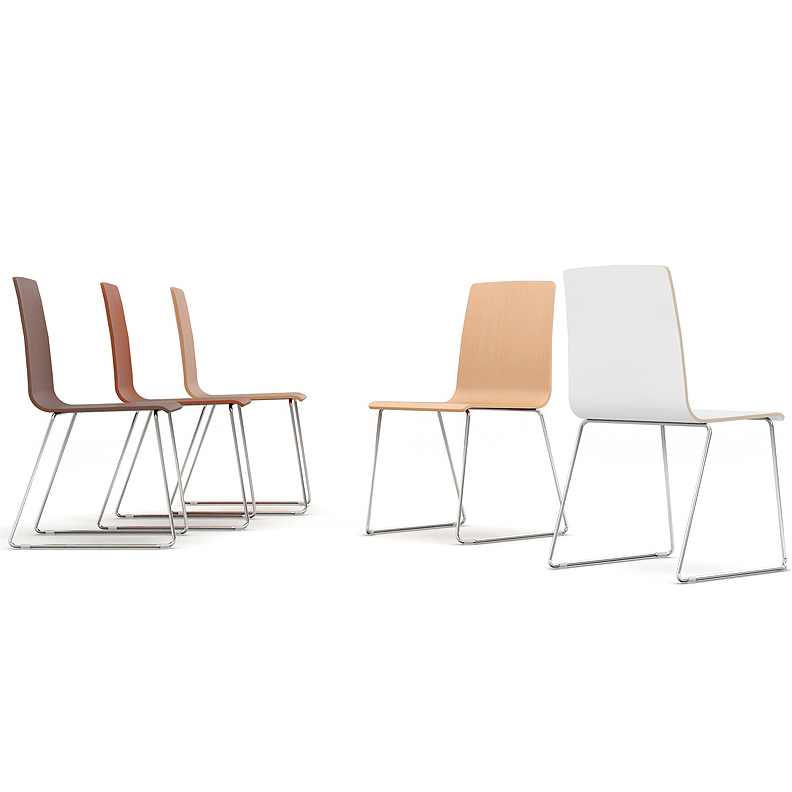Bjorn & Benny BJN22 bistro chair with sled base