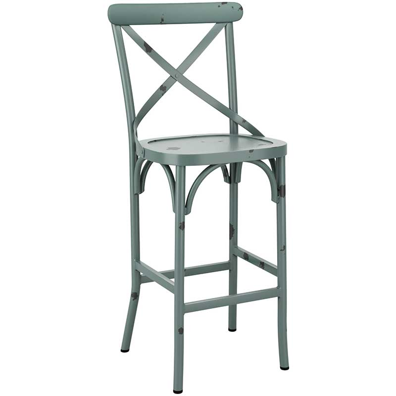 Cafe bar stool - light blue