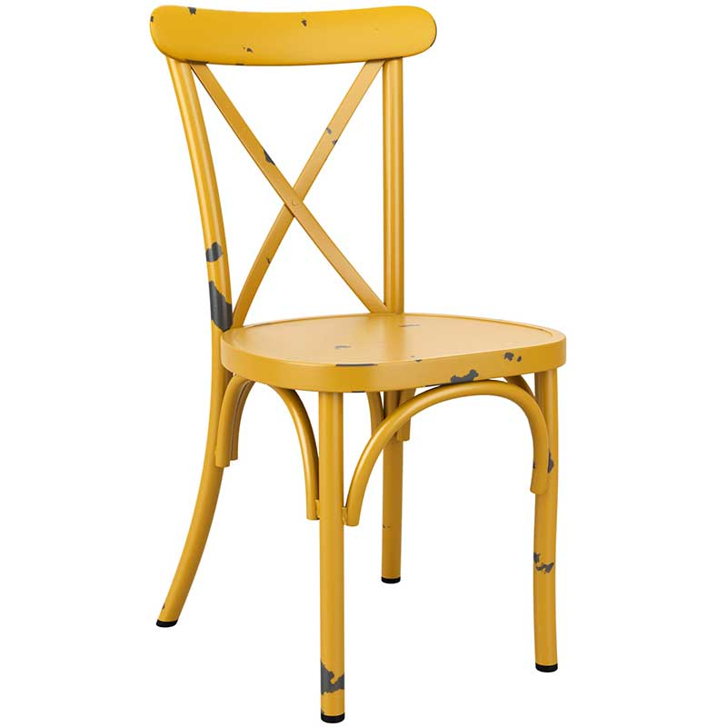 Vintage cafe chair - yellow