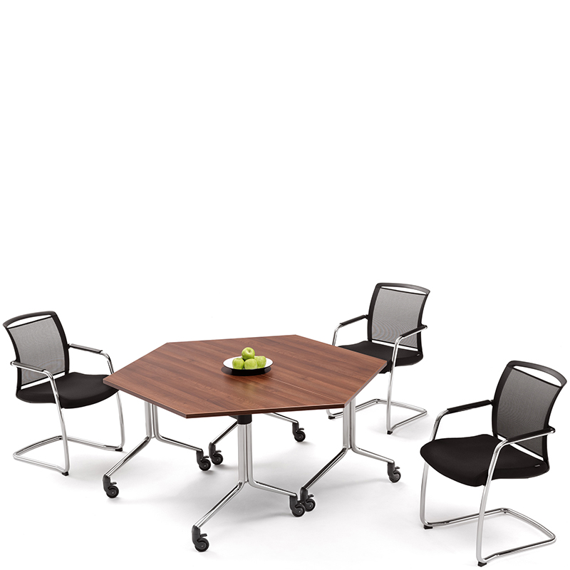 City Trapezium Portable Folding Meeting Table HSI Office Furniture - Portable conference table