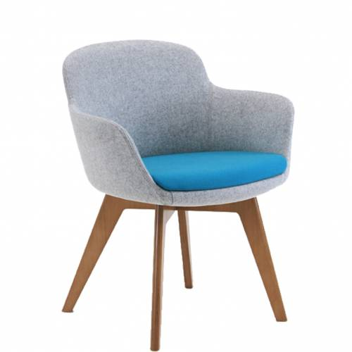 Danny Chair with wooden legs