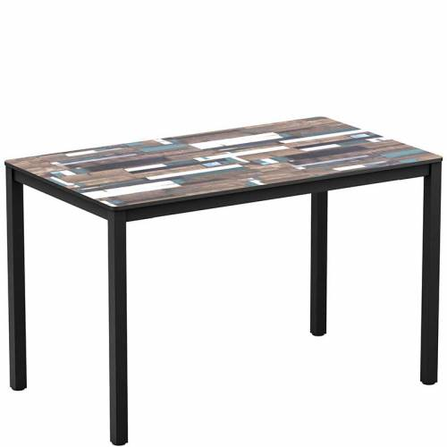 Extrema rectangle table - driftwood