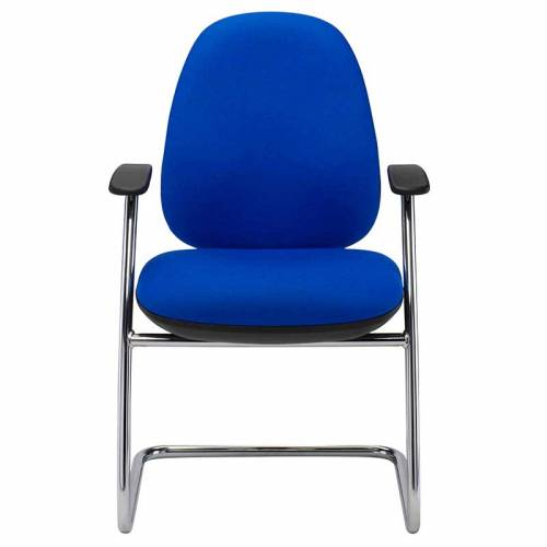 Ergonomic operator meeting chair fixed arms