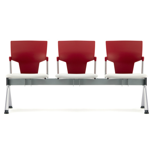 Red and white beam seating