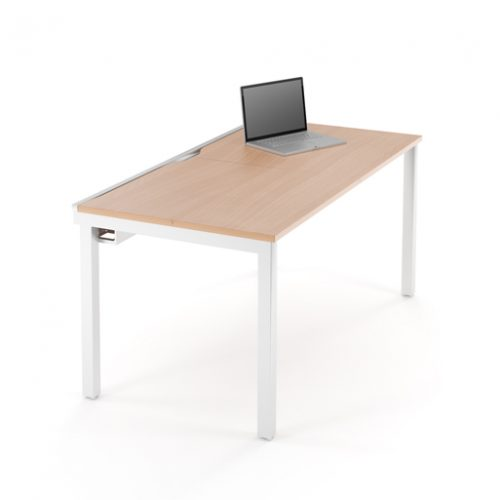 Single bench desk with extention option for longer runs