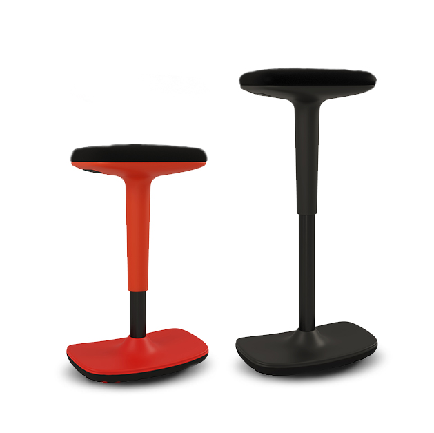Two Rockit rocking stools in different colours