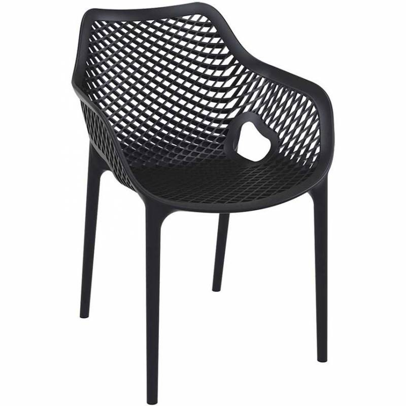 Spring armchair - black
