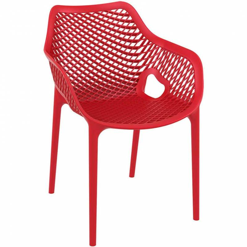 Spring armchair - red