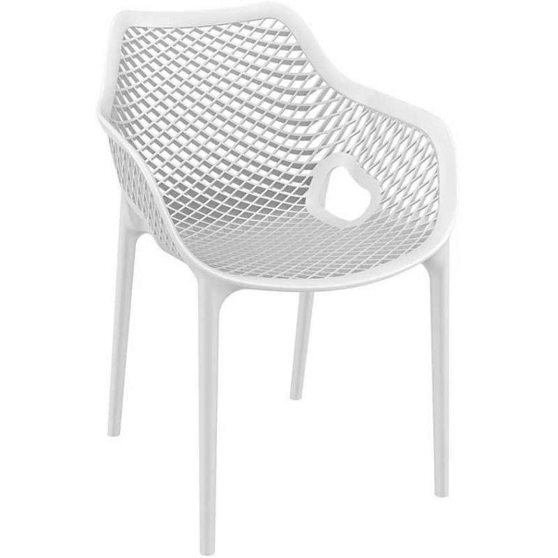 Spring armchair - white