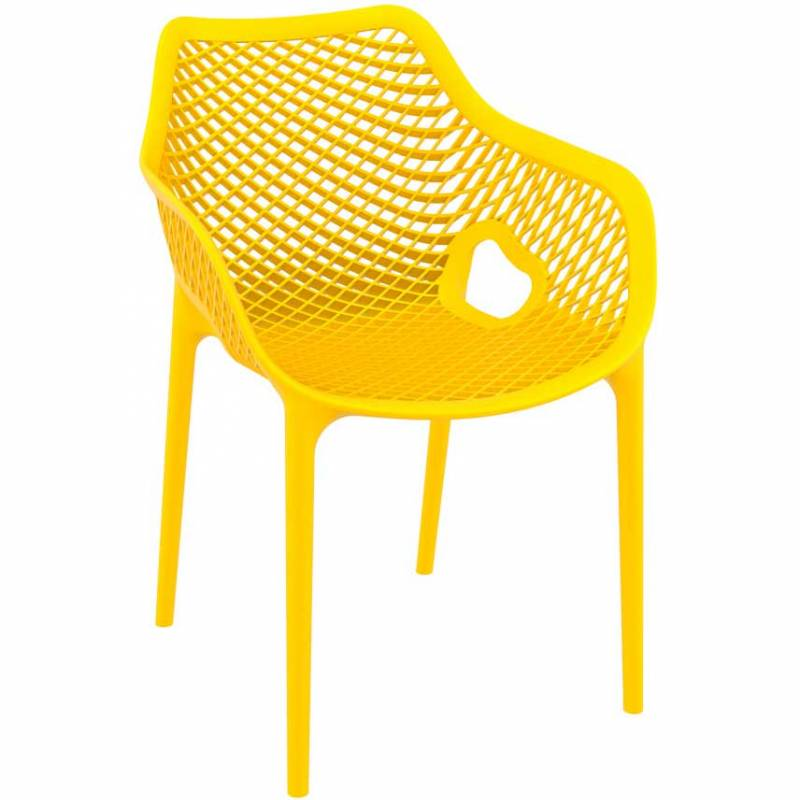 Spring armchair - yellow