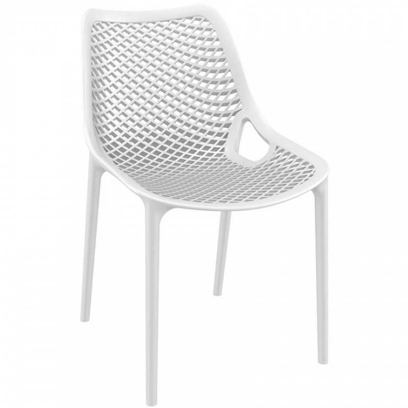 Spring white chair