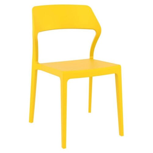 Snow side chair in yellow