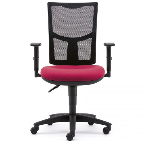 Air mesh chair with adjustable arms