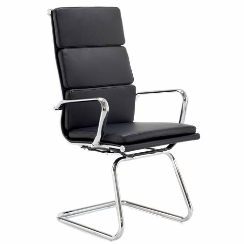 Aria CHMA black leather meeting chair