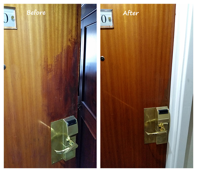 Restoration of hotel doors