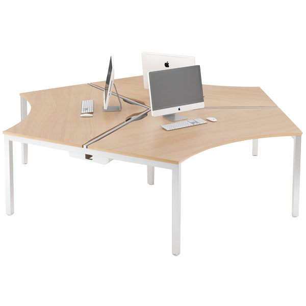 Bench cluster desks