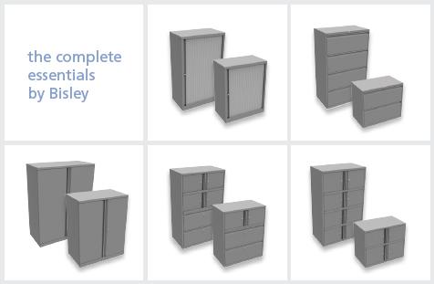 Bisley Essentials office storage range