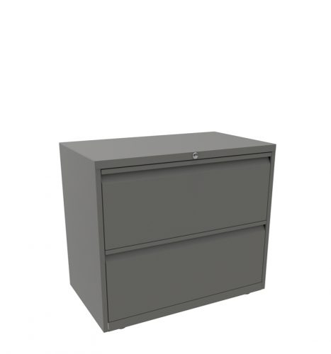 Grey side filer with 2 drawers