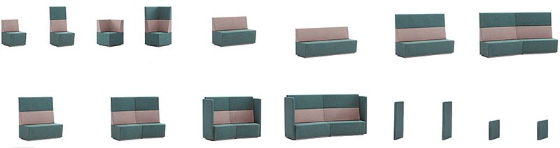 Office Booth Seating Modules