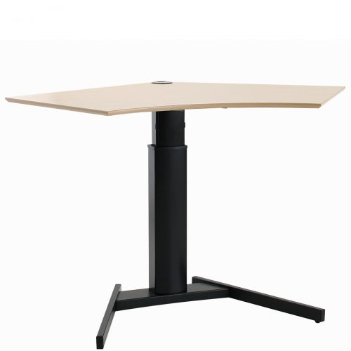 Sit-stand desk with black frame