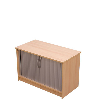 Desk high wooden tambour