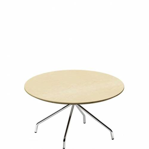 Danny round coffee table with aluminium base - DNY3