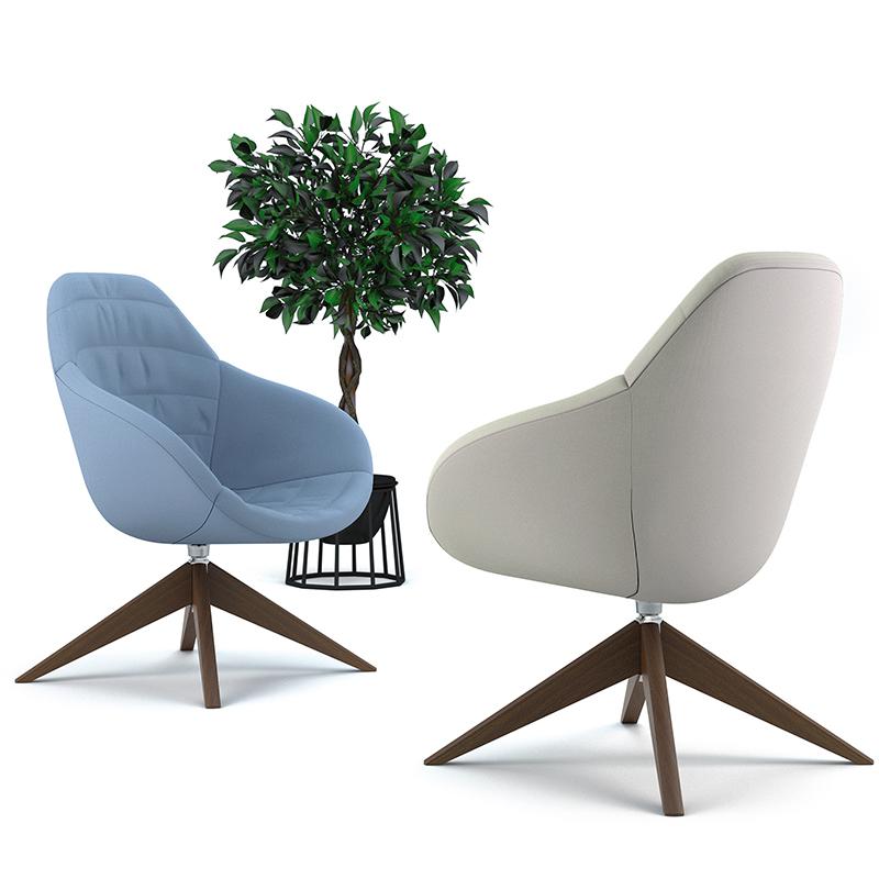 Wave   Scandinavian Style Swivel Tub Chair