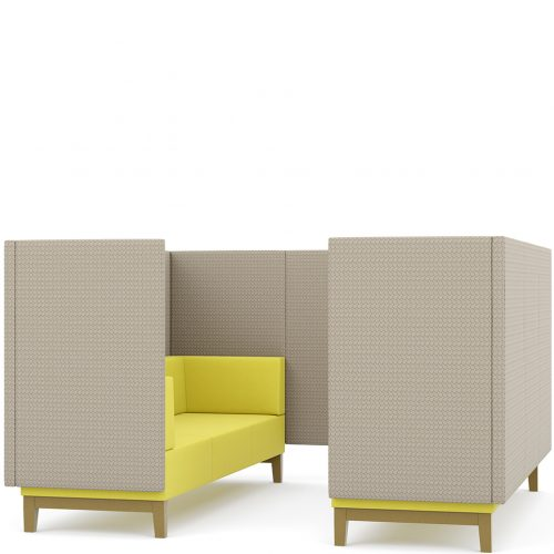 Fence - six seater booth