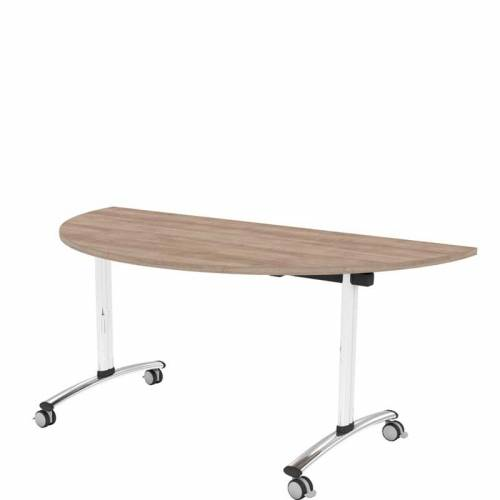 Flip top semi circular table