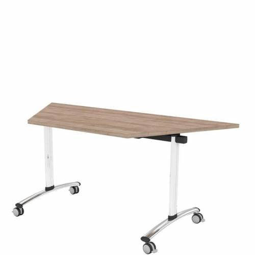 Flip top trapezium table