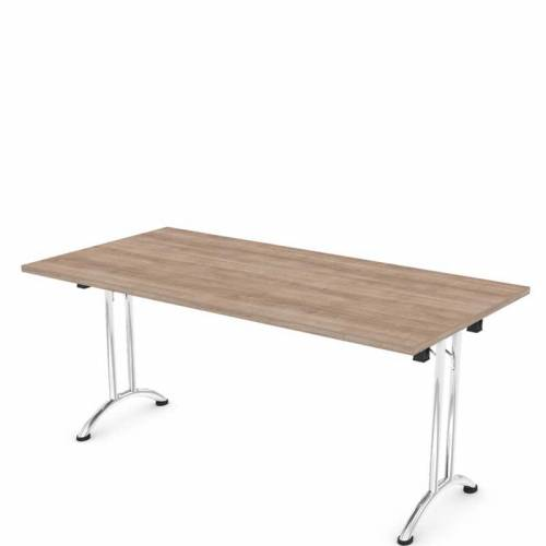 Folding rectangular meeting table