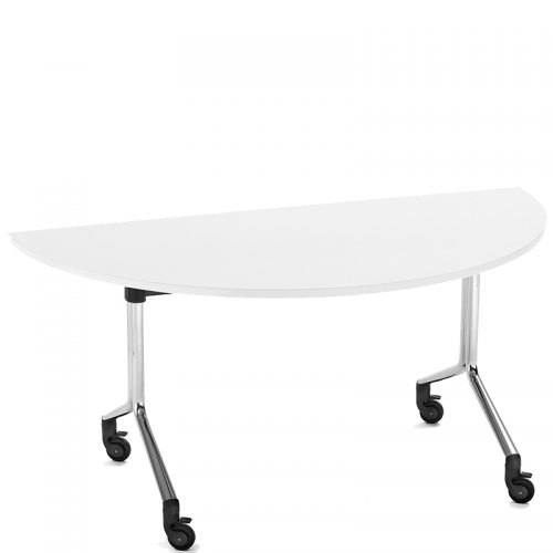 Folding table semi circular