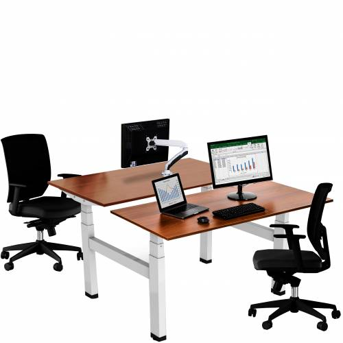 HSI electric double sit stand desk