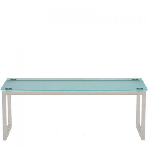 Hub frosted glass coffee table