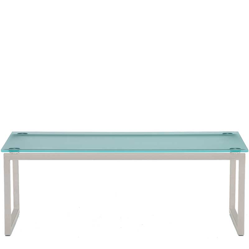 Hub Rectangular Frosted Glass Coffee Table