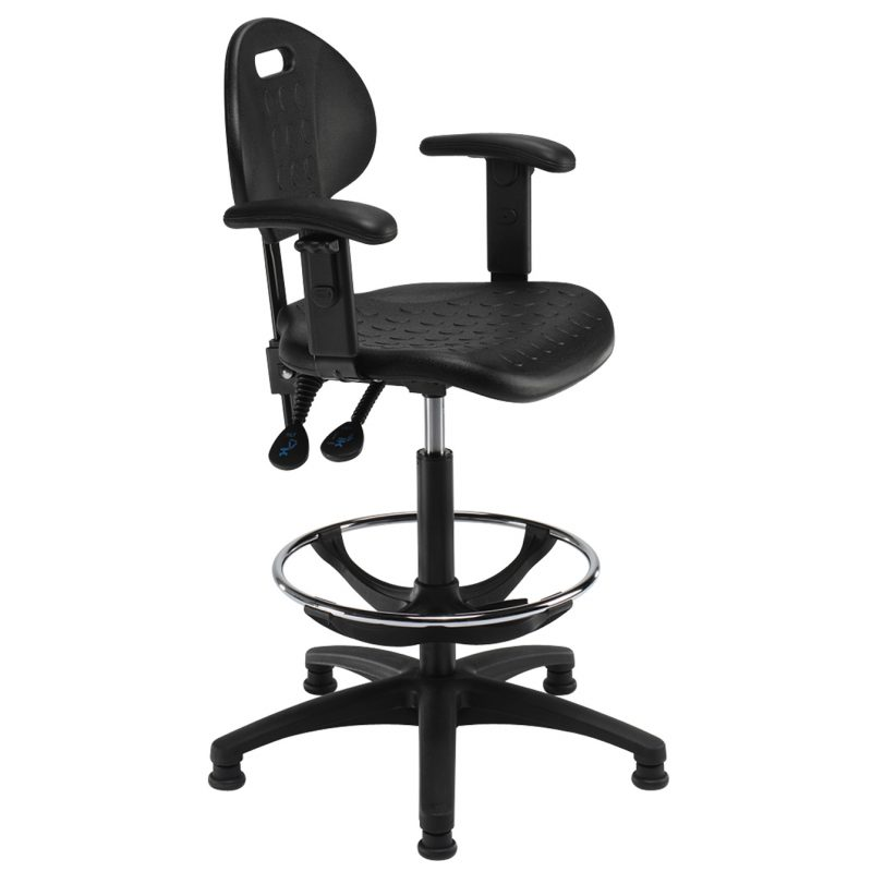Industrial draughtman chair - adjustable arms