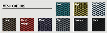 Kind task chair - mesh colours