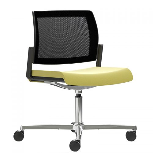 Kind mesh swivel chair with aluminium base - KDMC81C