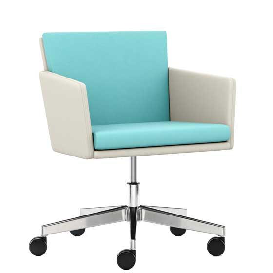Lark wheeled meeting chair - LRK-04