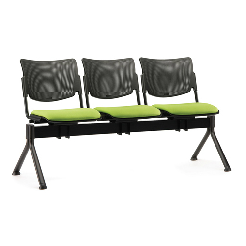Green and black beam seating