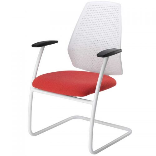 Mono white meeting chair MONWEX210